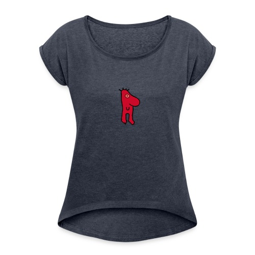 JM ORIGINAL - Naisten T-paita, jossa rullatut hihat