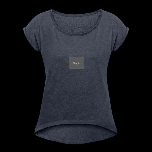 first logo - T-shirt à manches retroussées Femme