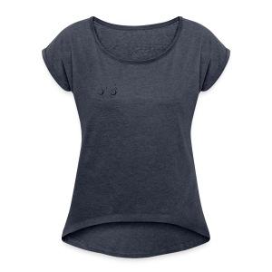 Extra Pixel Weltraum - Frauen T-Shirt mit gerollten Ärmeln