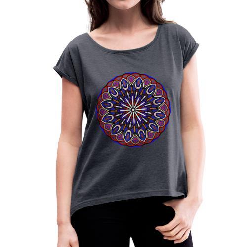 mandala fantastico ideale per tutti i giorni - Maglietta da donna con risvolti