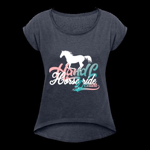H&L Denim Horse-Ride - T-shirt à manches retroussées Femme