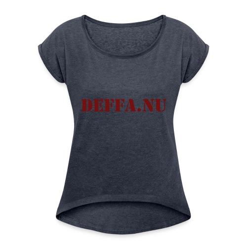 Deffa.nu - T-shirt med upprullade ärmar dam