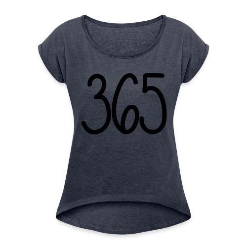 365 Official - Vrouwen T-shirt met opgerolde mouwen