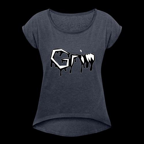Grim Slime - Frauen T-Shirt mit gerollten Ärmeln