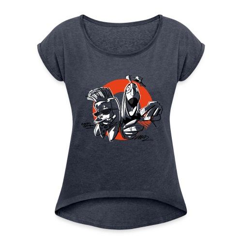 Zacki & Sambo B-Boys - Frauen T-Shirt mit gerollten Ärmeln