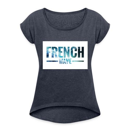 FRENCH WAVE LOGO - T-shirt à manches retroussées Femme