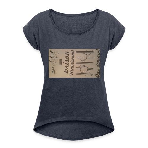 20170323 184455 - T-shirt à manches retroussées Femme