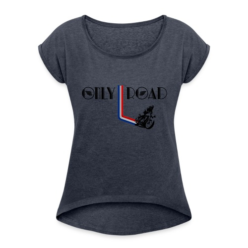 ONLY ROAD - T-shirt à manches retroussées Femme