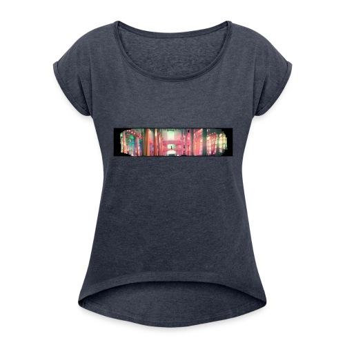 chiesaspreadshirt - Maglietta da donna con risvolti