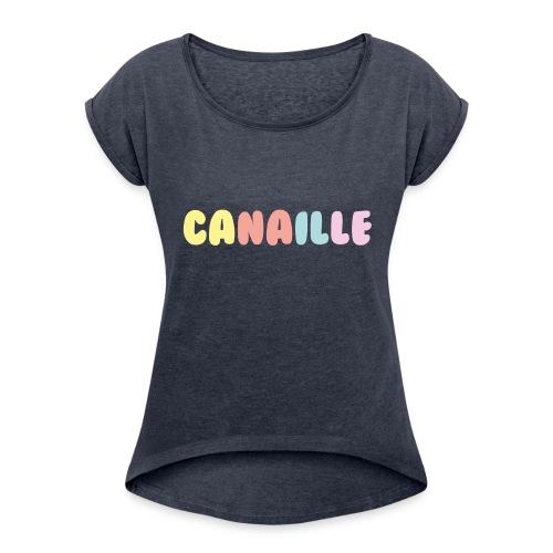 CANAILLE - T-shirt à manches retroussées Femme