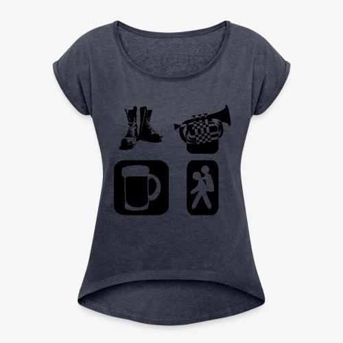 Way of Life - Frauen T-Shirt mit gerollten Ärmeln
