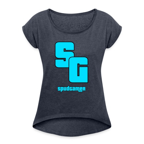 SpudGamer Logo - Women's T-shirt with rolled up sleeves