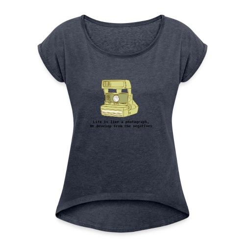 Photographic Lives - Women's T-Shirt with rolled up sleeves