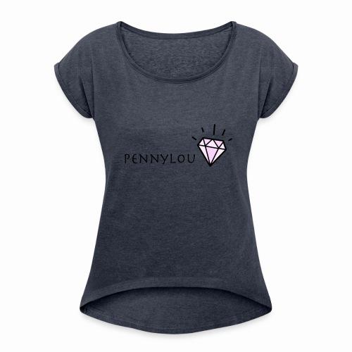 PennyLou - Frauen T-Shirt mit gerollten Ärmeln