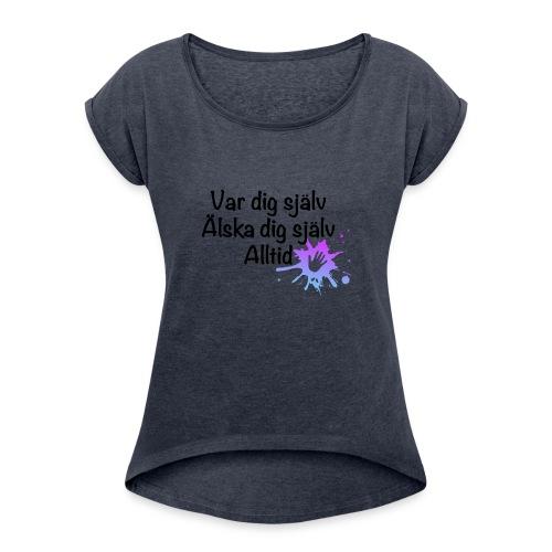 Forever Blå/lila - T-shirt med upprullade ärmar dam