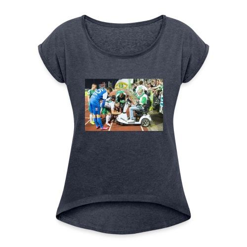 Kennedy Hammarby - T-shirt med upprullade ärmar dam