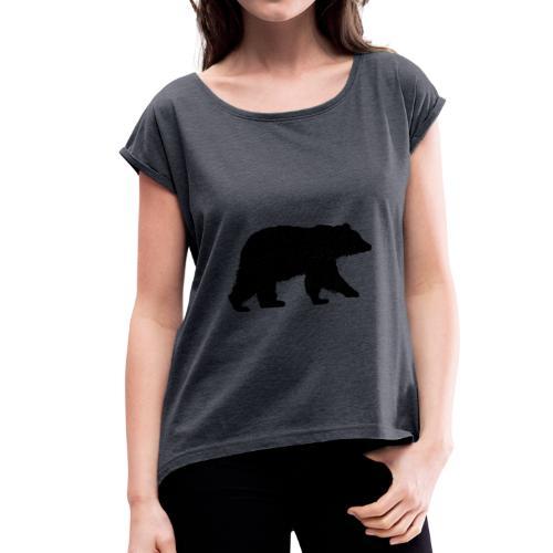 Ours en Grain - T-shirt à manches retroussées Femme