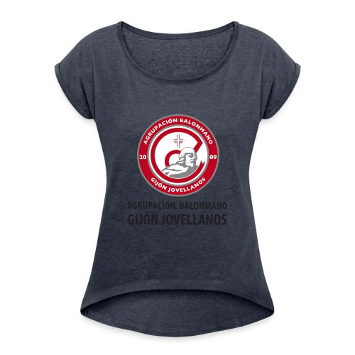 Escudo Gijón Jovellanos - Camiseta con manga enrollada mujer