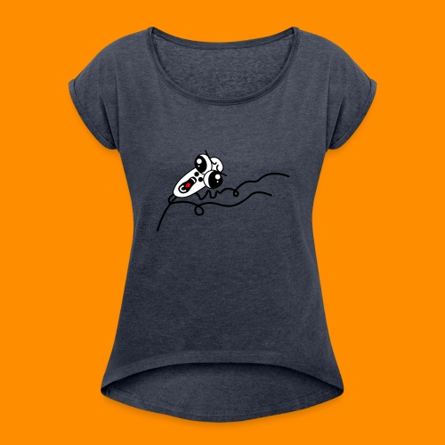 Stick dood - Women's T-Shirt with rolled up sleeves