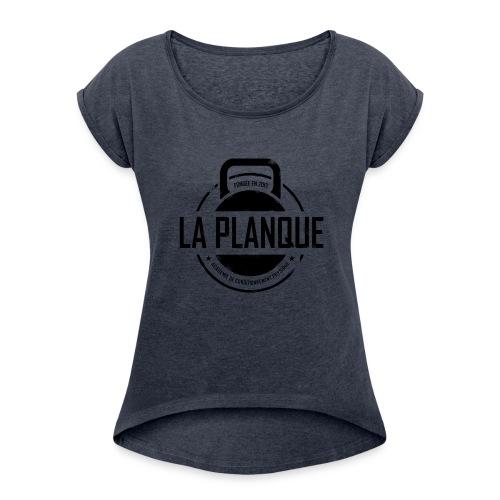 la_planque noir - T-shirt à manches retroussées Femme