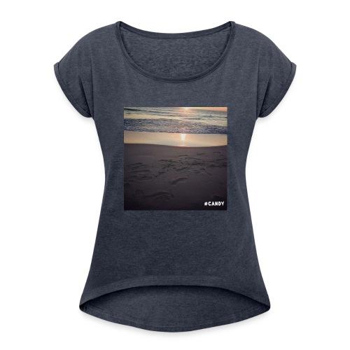 Wschód Słońca - Koszulka damska z lekko podwiniętymi rękawami