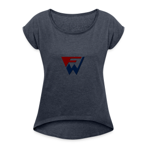 FW Logo - Women's T-shirt with rolled up sleeves