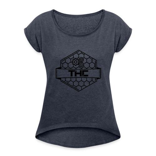 THCDev - Logo - Frauen T-Shirt mit gerollten Ärmeln