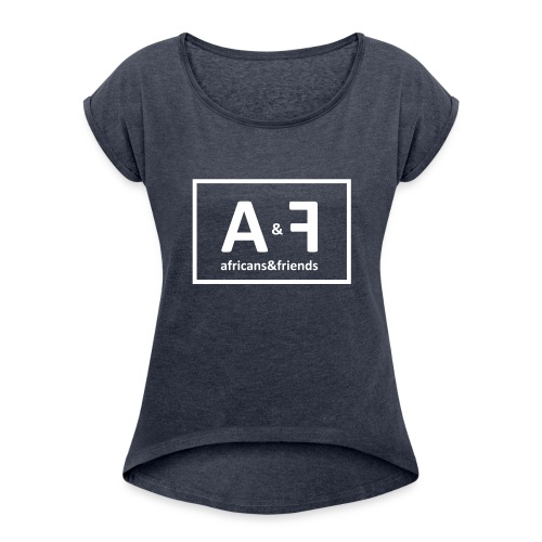 Africans friends - Women's T-Shirt with rolled up sleeves