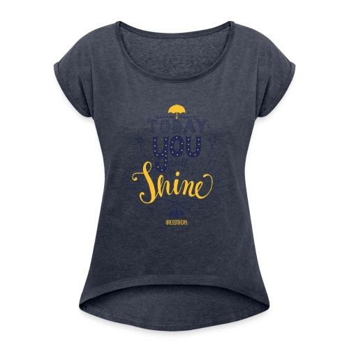 jopida shine - Frauen T-Shirt mit gerollten Ärmeln