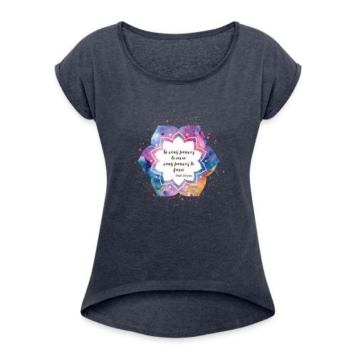 Citation de Walt D. - T-shirt à manches retroussées Femme