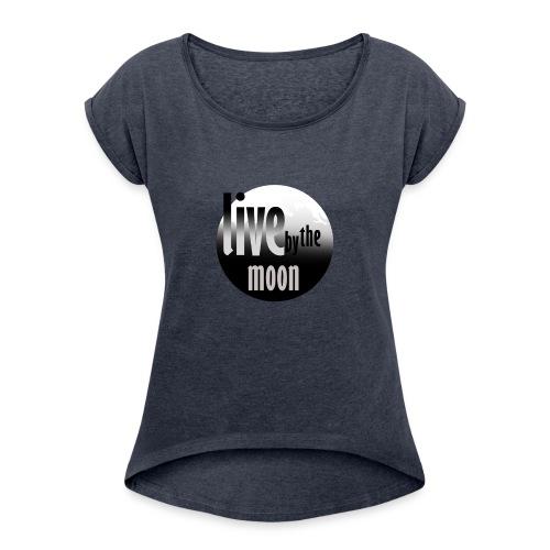 the moon - T-shirt à manches retroussées Femme