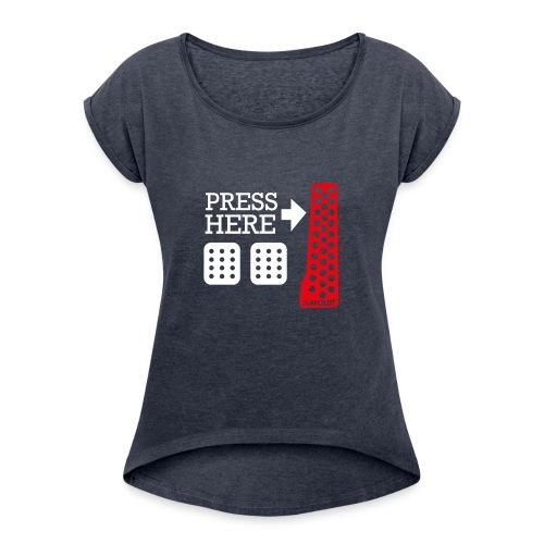 Press Here - T-shirt à manches retroussées Femme