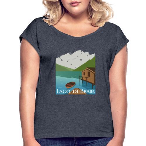 Illustrazione Lago di Braies - Maglietta da donna con risvolti