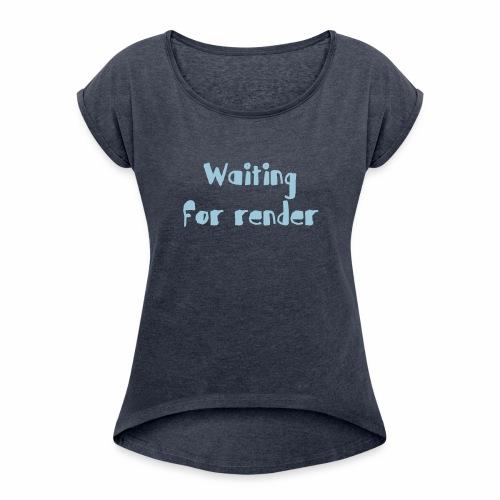 RENDER - Camiseta con manga enrollada mujer