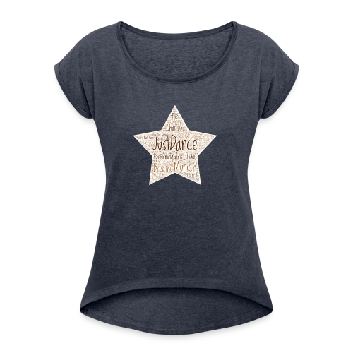 PAS Star Original bg beige - Frauen T-Shirt mit gerollten Ärmeln