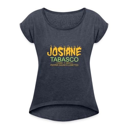josiane tabasco - T-shirt à manches retroussées Femme