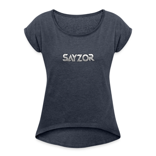 Navy 2017 Sayzor Merch! - Women's T-Shirt with rolled up sleeves