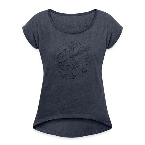I LOVE CARBS - Maglietta da donna con risvolti