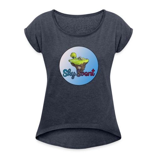 SkyEvent - T-shirt à manches retroussées Femme