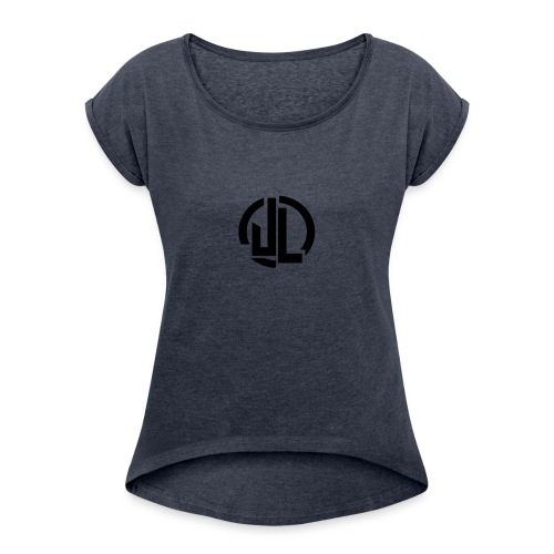 The Black JL Logo - Women's T-Shirt with rolled up sleeves