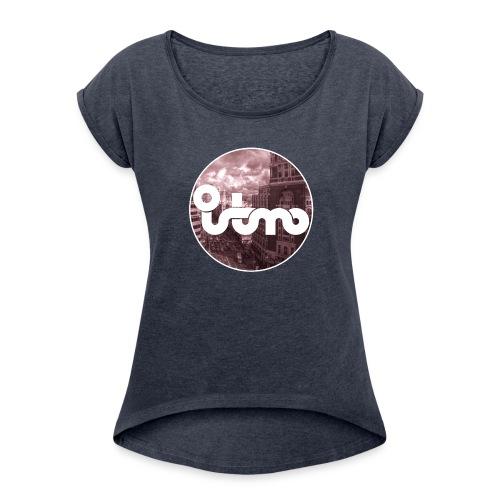VIVE MADRID - Camiseta con manga enrollada mujer