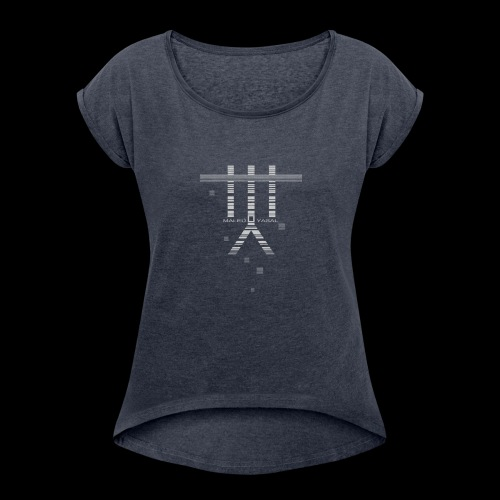Maleu' Yasal Indigo Vendetta - Frauen T-Shirt mit gerollten Ärmeln