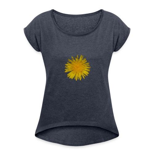 loewenzahn - Frauen T-Shirt mit gerollten Ärmeln