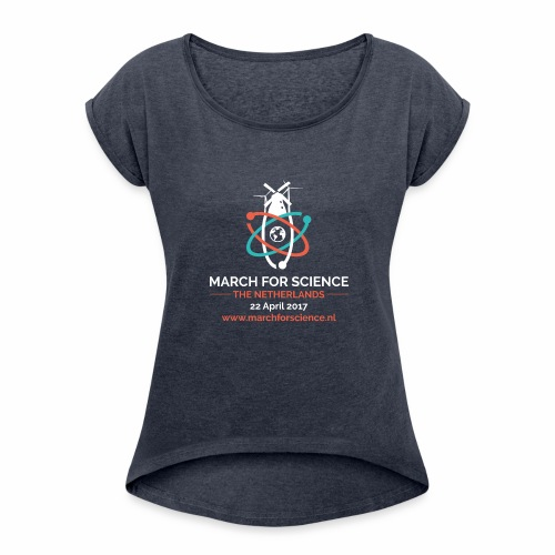 MfS-NL logo dark background - Women's T-Shirt with rolled up sleeves