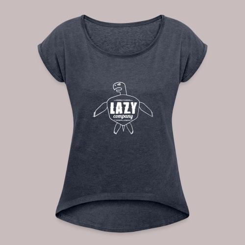 Lazy company - T-shirt à manches retroussées Femme