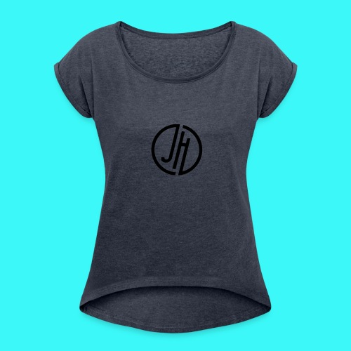JH Logo - Women's T-Shirt with rolled up sleeves