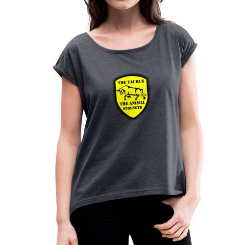 design 2 - T-shirt à manches retroussées Femme