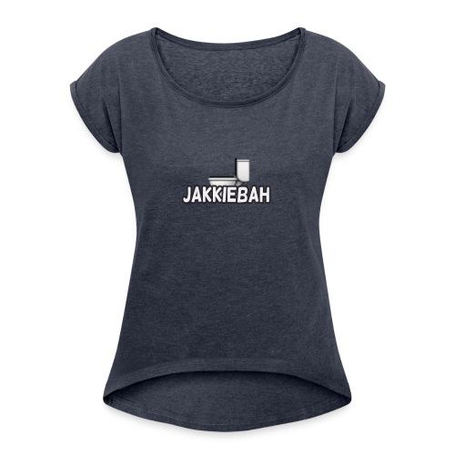 JakkieBah Merch - Vrouwen T-shirt met opgerolde mouwen