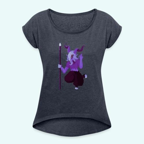 666 - T-shirt à manches retroussées Femme