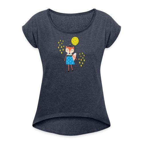 Fuchs - Ballon - Frauen T-Shirt mit gerollten Ärmeln